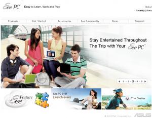 代表的なNetbook、EeePC(イーピーシー、Acer社)