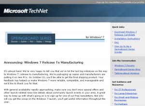 Windows7発売日通知の開発者向けメール(7月29日)
