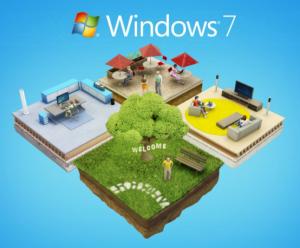 Windows 7 ツアーの画面