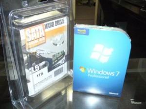 Windows 7 と、1TBのハードディスク