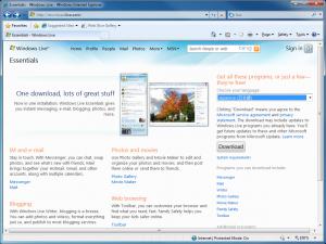 Windows Liveのダウンロードページ